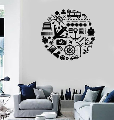 Large Wall Stickers Vinyl Decal Travel Summer Vacation Tourism Decor (z2011)