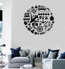 Large Wall Stickers Vinyl Decal Travel Summer Vacation Tourism Decor Unique Gift (z2011)