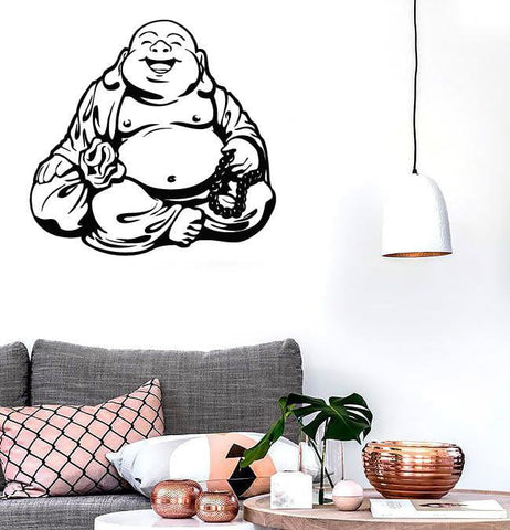 Large Wall Stickers Vinyl Decal Smiling Chinese God Good Luck Symbol Funny (z2015)