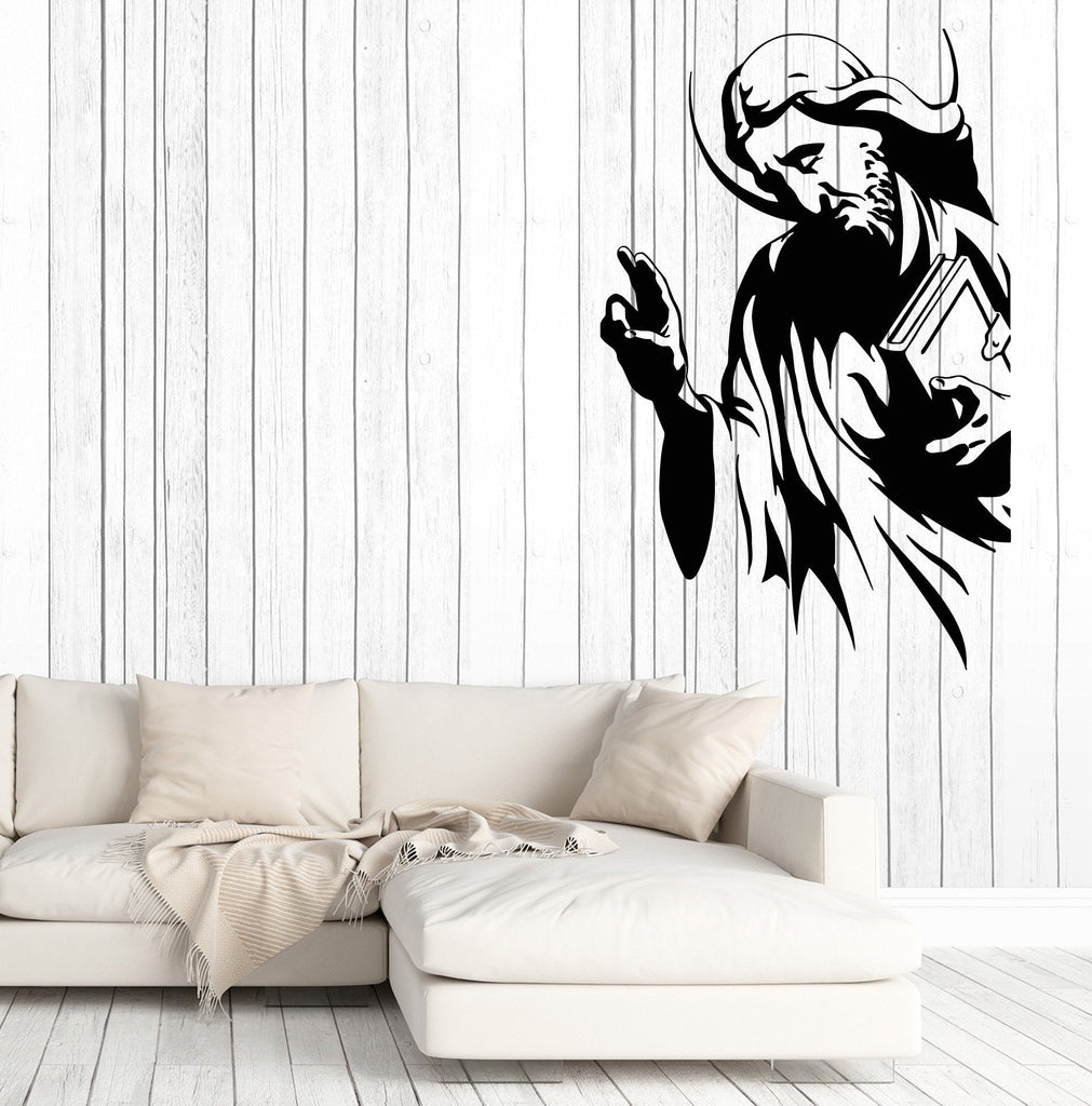 Large Wall Stickers Vinyl Decal Apostle Monk Religion Cross Decor Unique Gift (z2016)