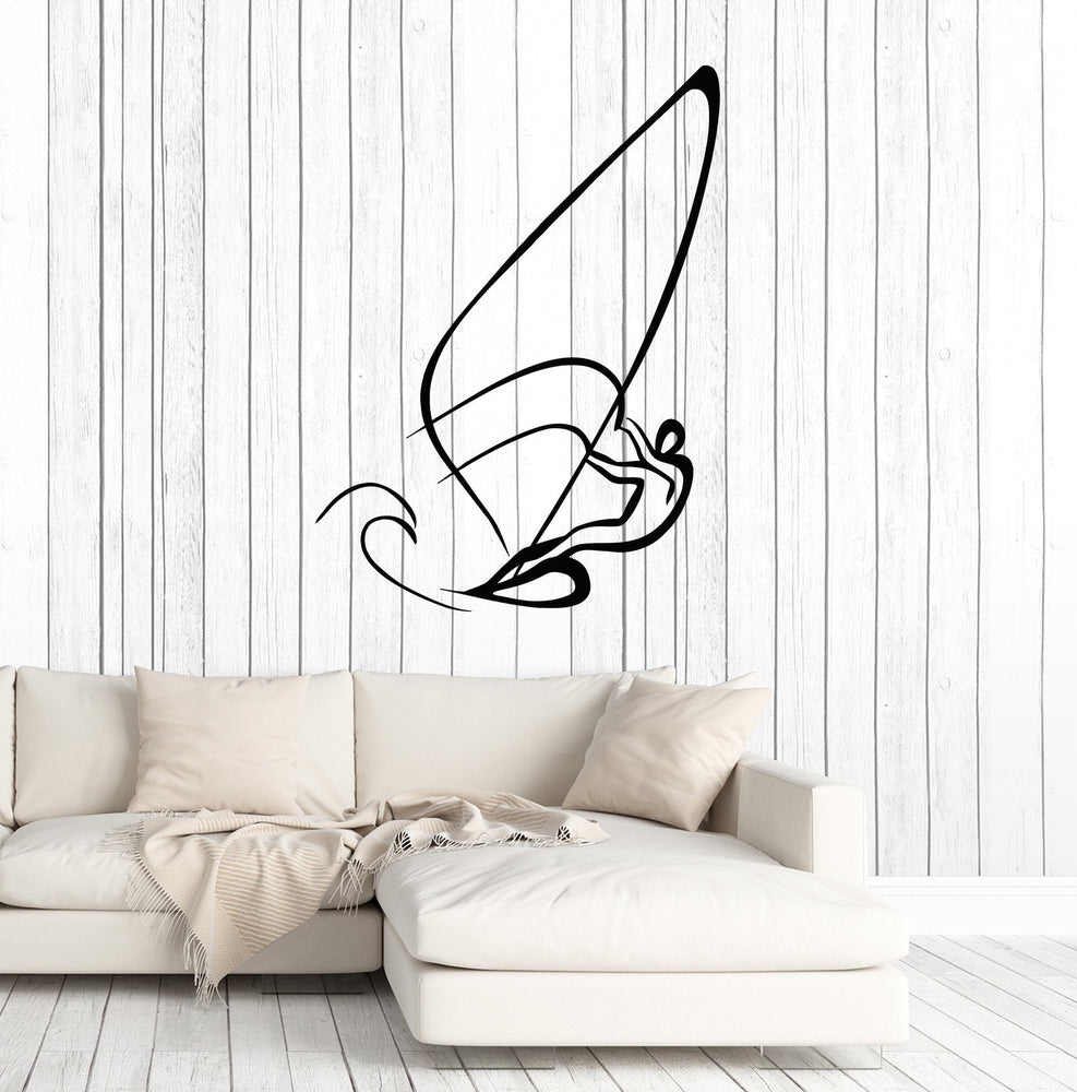 Large Wall Stickers Vinyl Decal Sail Yacht Sport Water Extreme Sport Freedom Unique Gift (z2024)