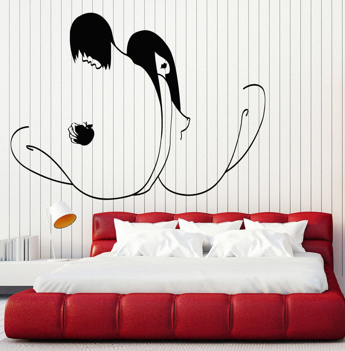 Large Wall Stickers Vinyl Decal Emo Decor Modern Adam And Eve With Apple Unique Gift (z2027)