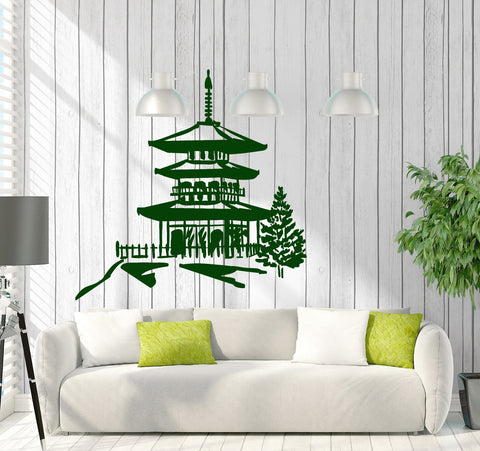 Wall Stickers Vinyl Decal Pagoda Chinese Oriental Temple Religion Decor Unique Gift (z2031)