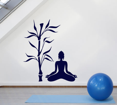 Wall stickers vinyl decal buddha and tree religion decor zen meditation unique gift z2057