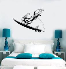 Decal Wall Vinyl Ocean Surfing Surf Girl Beach Vacation Decor Unique Gift z2168