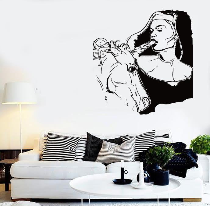 wall stickers vinyl decal super sexy decor bad girl and unicorn rh wallstickers4you com