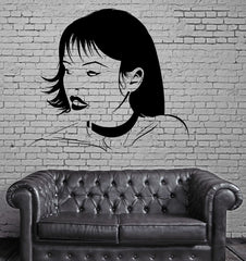 Submissive Girl Teen Oriental Sexy Hot Decor  Wall Stickers Vinyl Decal  (z2242)