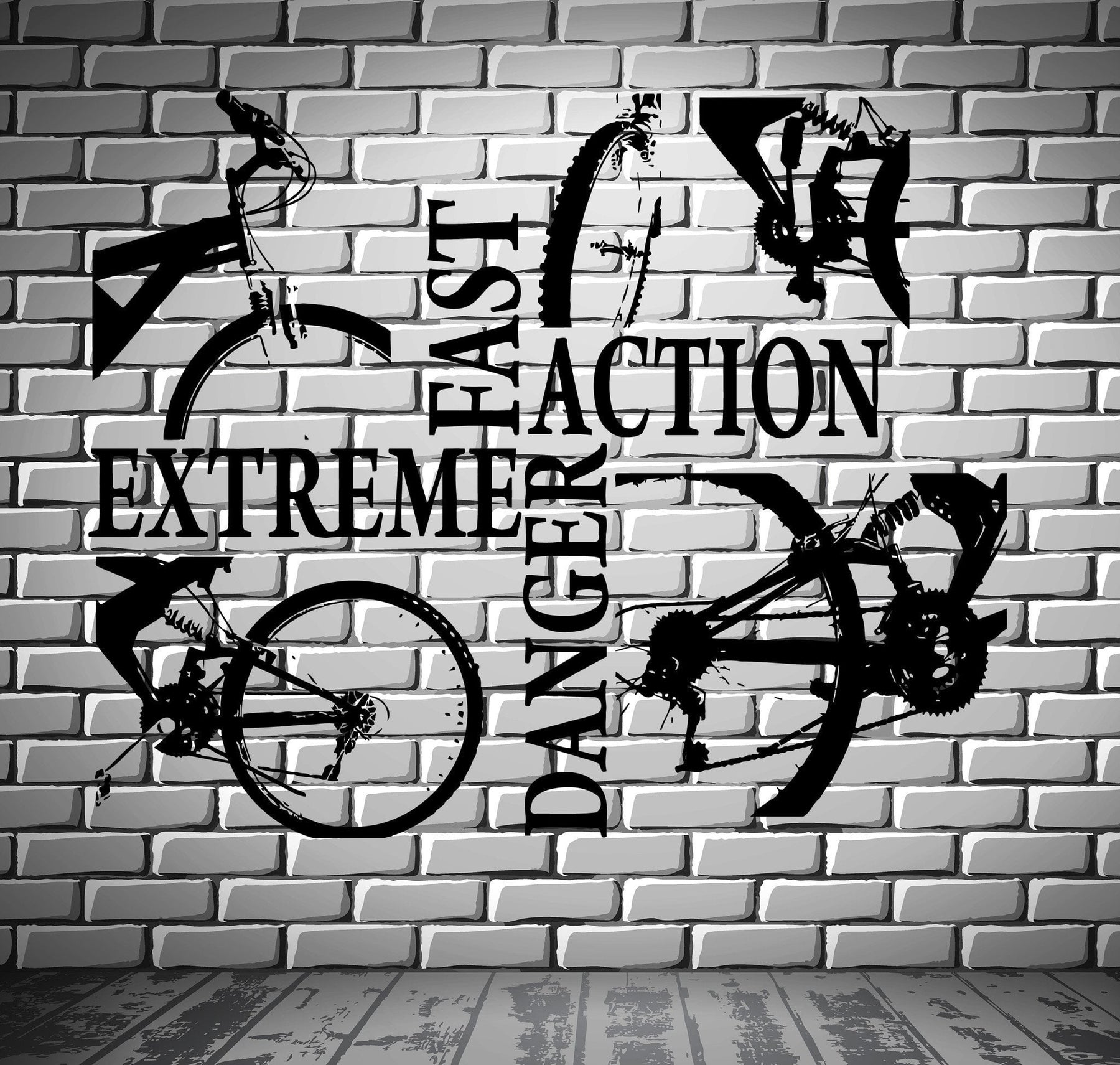 Bicycle Bike Cycle Extreme Sport Decor Wall Stickers Vinyl Decal  (z2243)