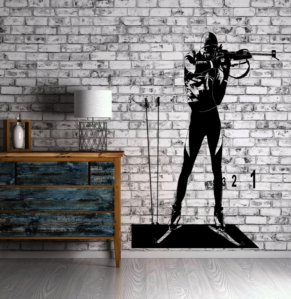 Biathlete Biathlon Winter Sport Decor Wall Stickers Vinyl Decal (z2244)