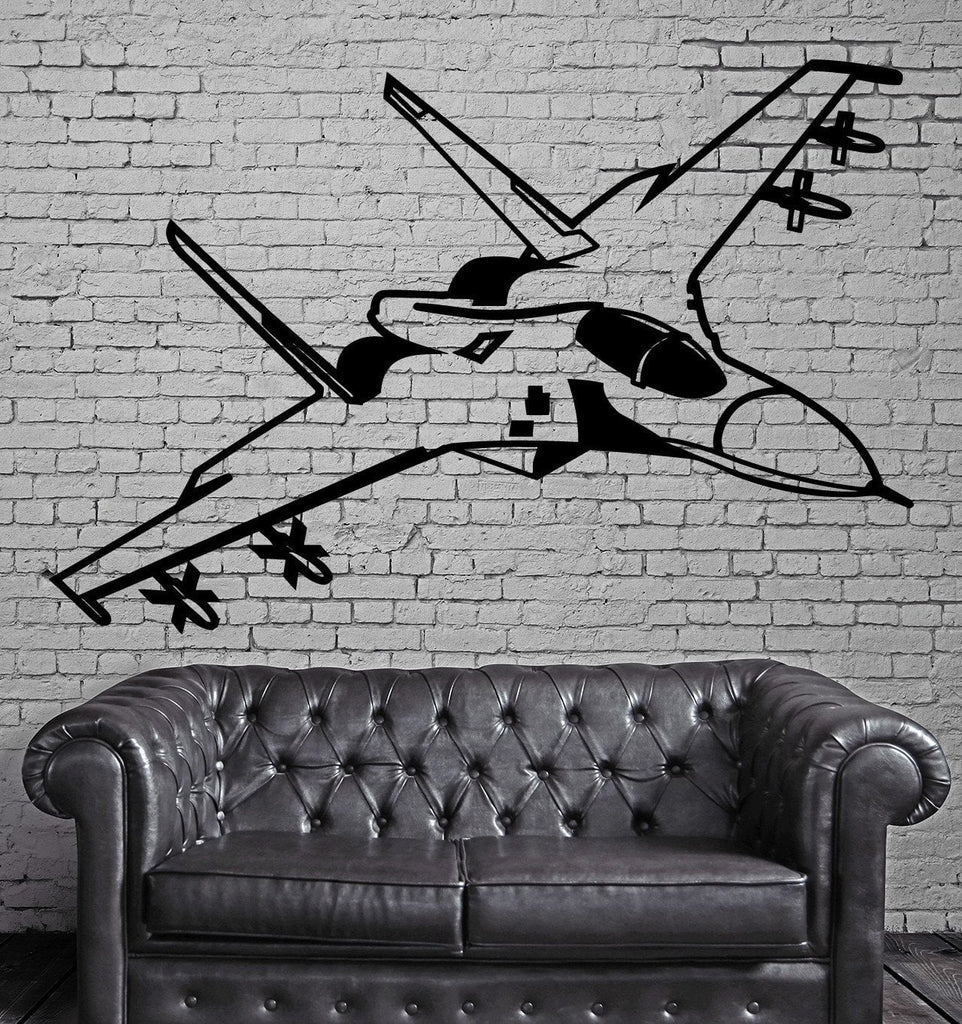 Fighting Jet Air Force Airplane Decor Wall Stickers Vinyl Decal (z2250)