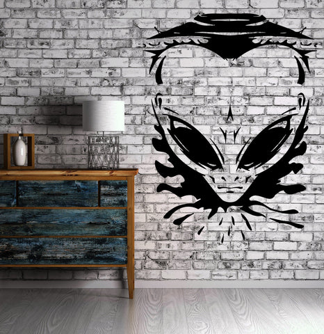 Vinyl Decal Wall Sticker Angry Alien UFO Spaceship Universe Space Modern Man Cave Decor (z2251)