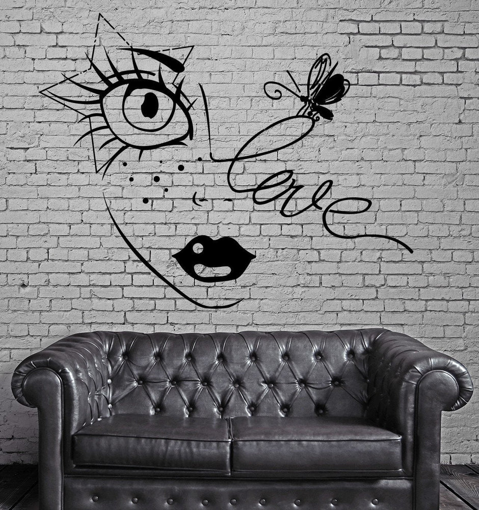 Sexy Teen Girl In Love Star And Bee Decor Wall Stickers Vinyl Decal  (z2253)