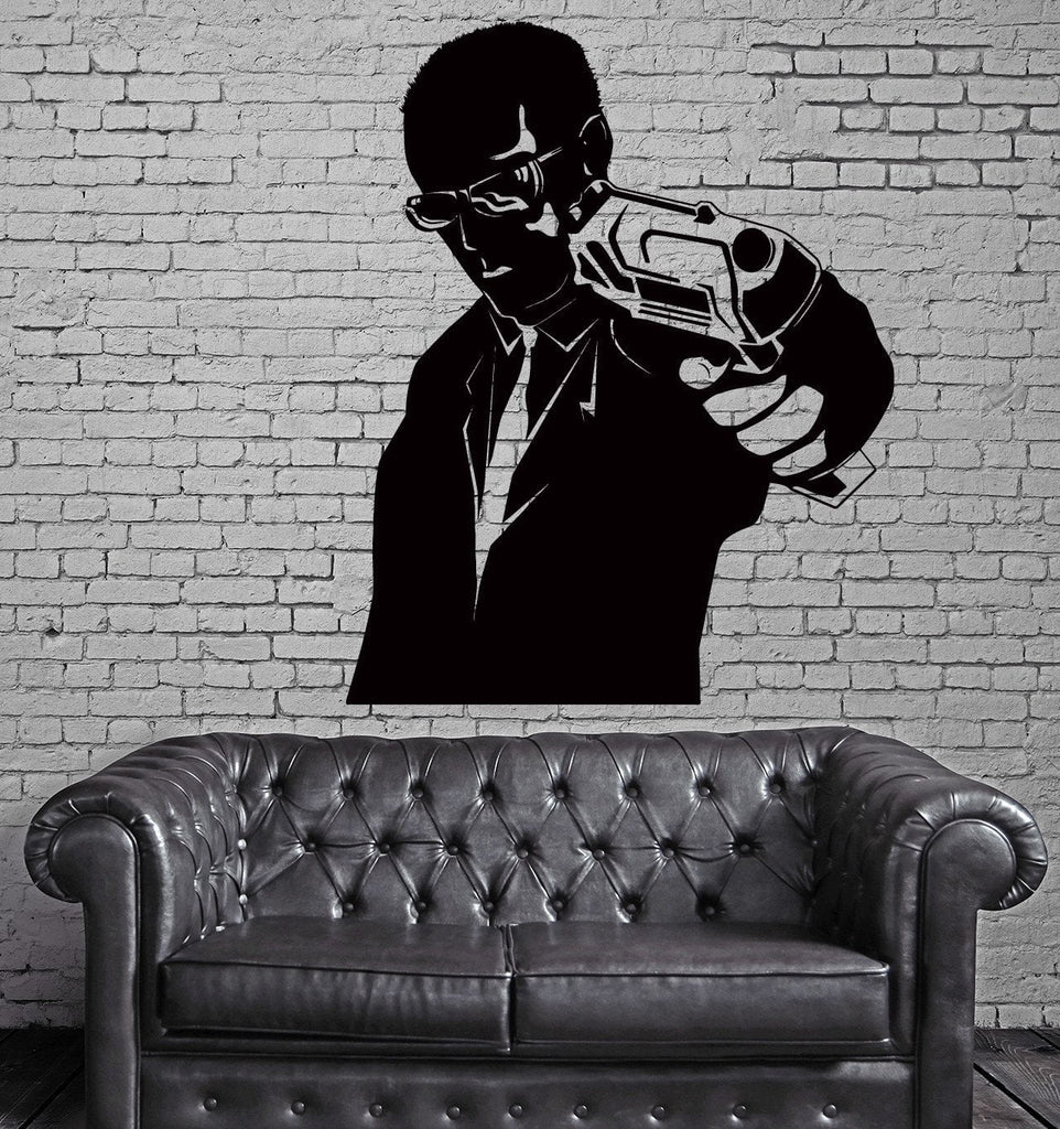 Gangster  Secret Agent Man With Gun Decor Wall Stickers Vinyl Decal (z2261)