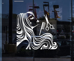 Window Decal for Business and Wall Stickers Hair Dress Beauty Salon Barbershop Decor Unique Gift (z2331w)