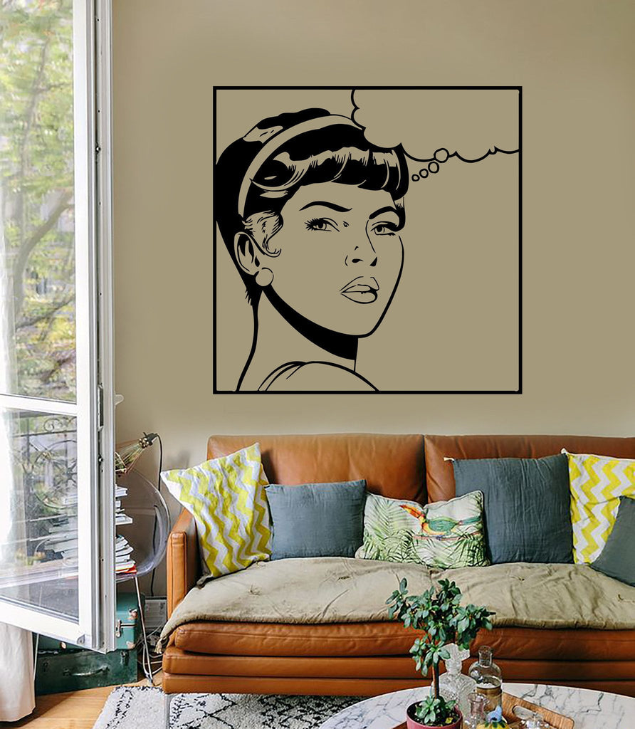 Wall Sticker Sexy Teen Girl Woman Lady Pop Art For Living Room (z2597)