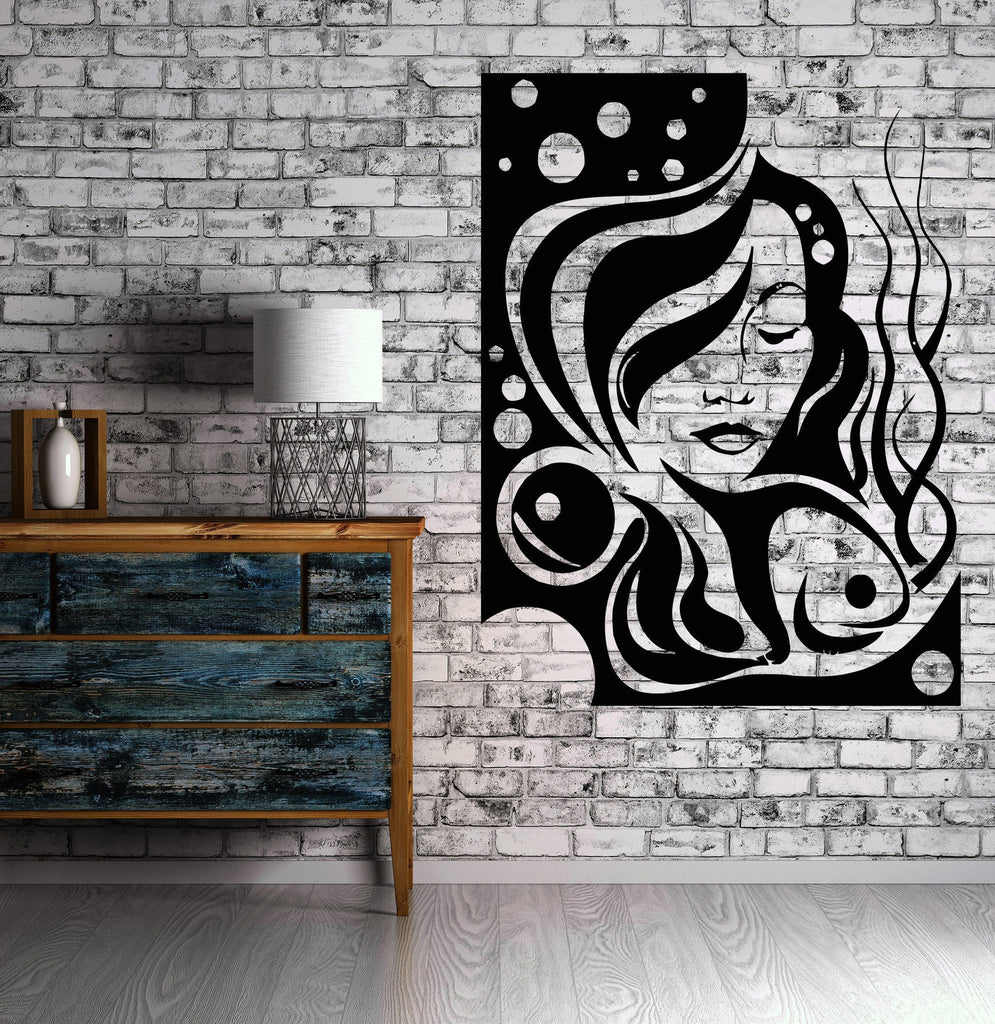 Hair Beauty Salon Sexy Beautiful Hot Girl Wall Art Decor Vinyl Sticker z261