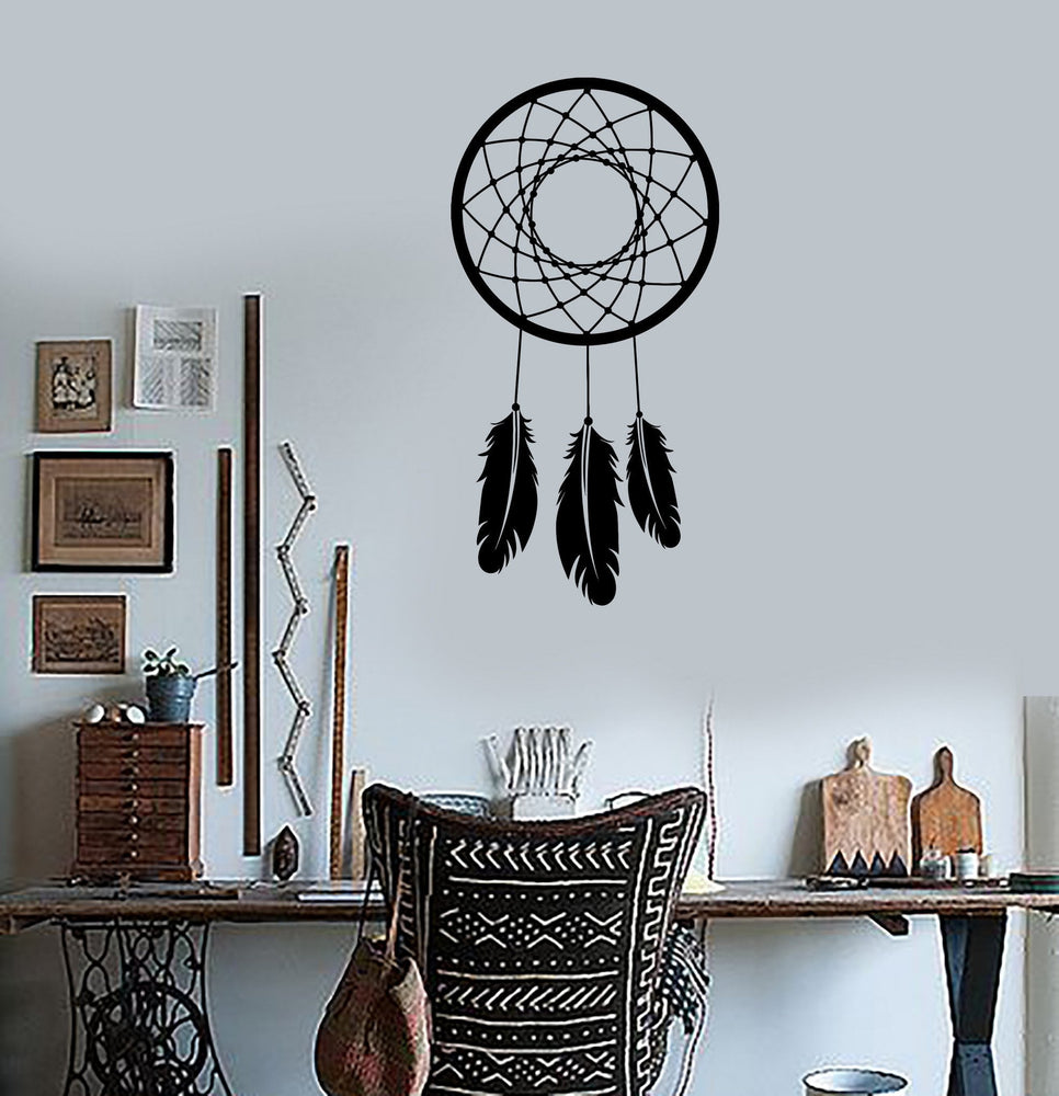 Wall Decal Dreamcatcher Dream Catcher Talisman Amulet For Bedroom Unique Gift (z2791)