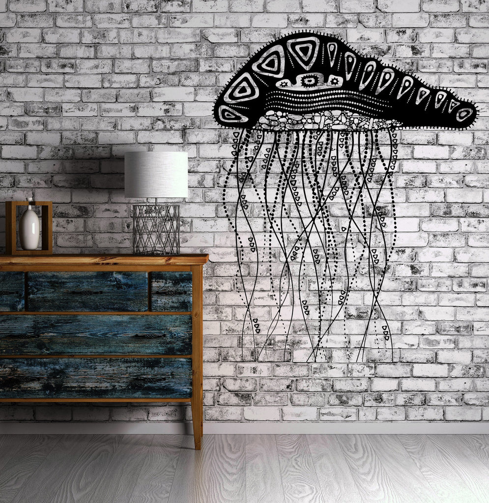 Decal Jelly Fish Ocean Marine Ornament Cool Mural Vinyl Decal (z3153)