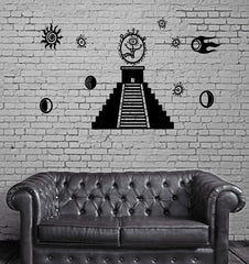 Decal Masons Pyramid Astronaut Symbol Comet Space Mural Vinyl Decal (z3160)