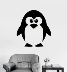 Wall Decal Penguin North Pole Funny Animal Vinyl Sticker (z3202) Size 22''x27''