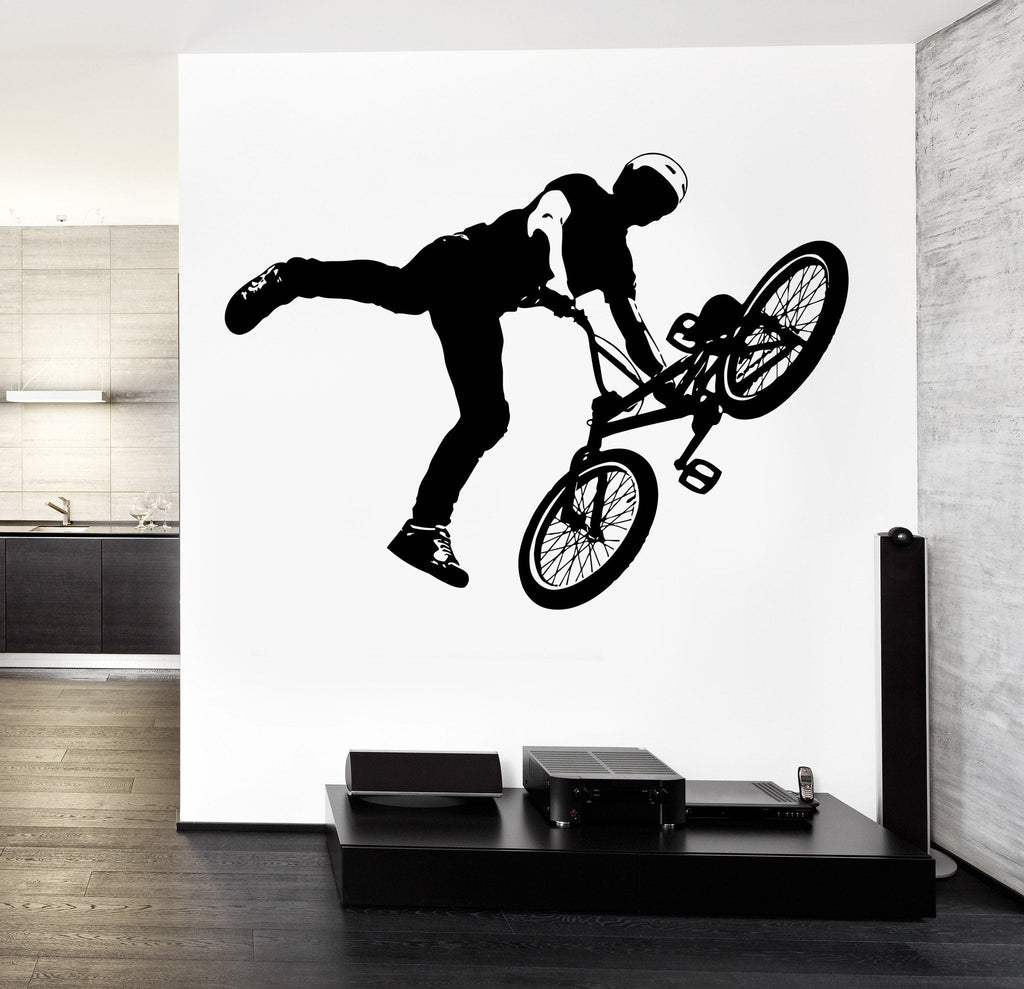 Wall Decal Vinyl Sticker Bike BMX Extreme Sport Unique Gift z3213