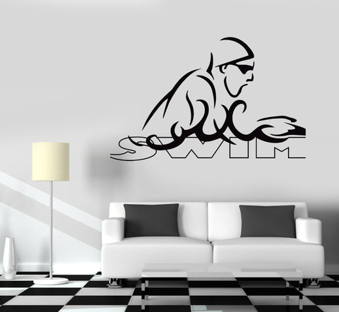 Wall Decal Vinyl Sticker Sport Swim Swimming  Unique Gift z3217
