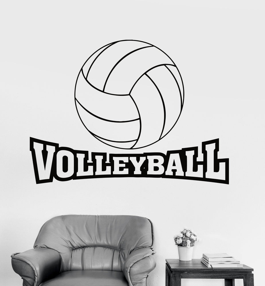 Wall Decal Sport Volleyball Ball Game Vinyl Sticker Unique Gift (z3236)