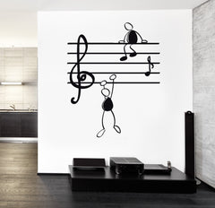 Wall Decal Music Notes Funny Cool Vinyl Sticker Unique Gift z3239