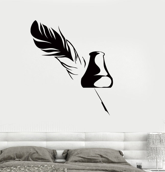 Wall Decal Pen Ink Writer Story Literature Vinyl Sticker Unique Gift z3245