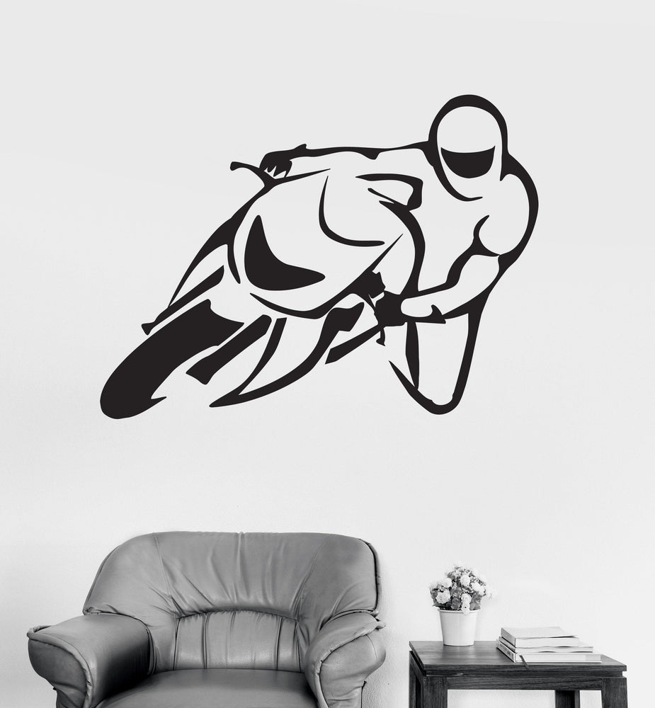 Wall Decal Bike Biker Extreme Sport Vinyl Sticker Unique Gift (z3246)