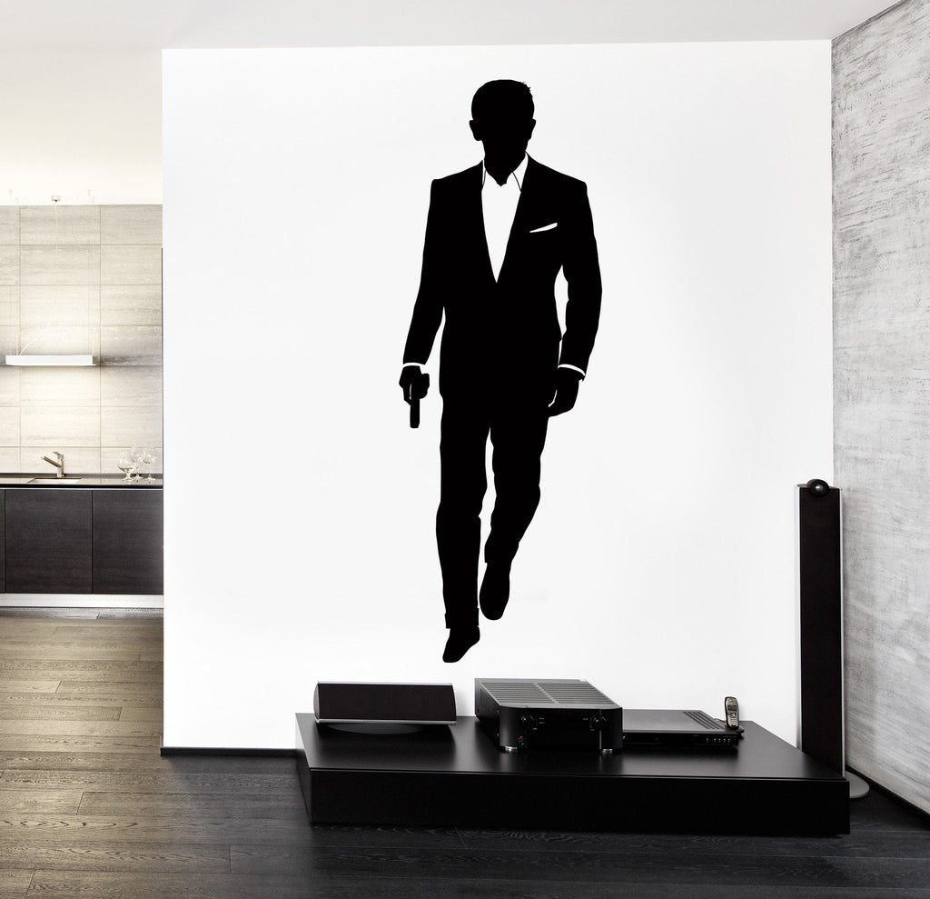 Vinyl Decal Wall Decal James Bond MI-6 British Intelligence Service Sticker Unique Gift (z3256)