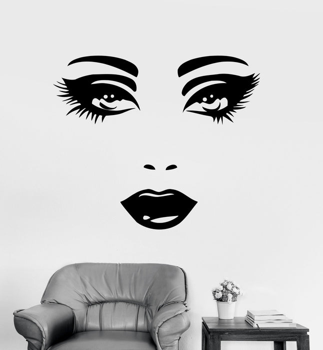 Wall Decal Sexy Face Eyes Woman Female Vinyl Sticker Unique Gift z3262