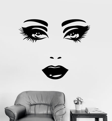 Wall Decal Sexy Face Eyes Woman Female Vinyl Sticker z3262