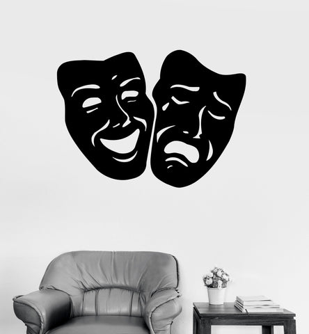 Wall Decals Mask Theatre Secret Vinyl Sticker z3268