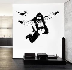 Wall Decal Parachute Jumping Extreme Sport Vinyl Sticker Unique Gift z3275