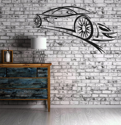 Sport Car Luxury Car  Speed Vehicle Mural  Wall Art Decor Vinyl Sticker z331