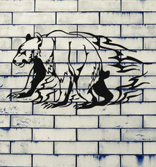 Bear Grizzly Animal Urban Art Animal Mural  Wall Art Decor Vinyl Sticker z351