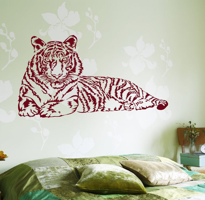 Wall Vinyl Stcker Tiger Jungle Africa Ethnic Decor Unique Gift z3654