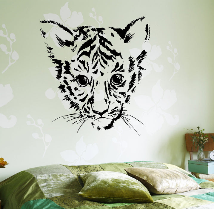 Wall Decal Vnyl Baby Tiger Cub Jungle Afrca Unique Gift z3659