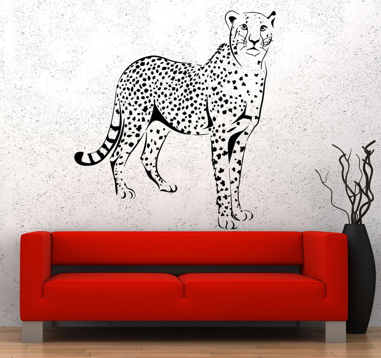 Wall Vinyl Sticker Leopard Gepard Cheetah Jungle African Ethnic Decor Unique Gift z3665