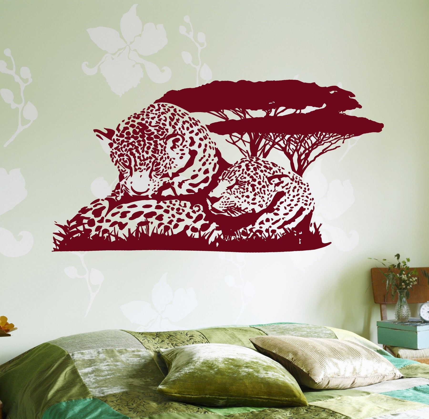 Wall Vinyl Decal Cheetah Leopard Family Romantic Love Jungle Decor Unique Gift z3668