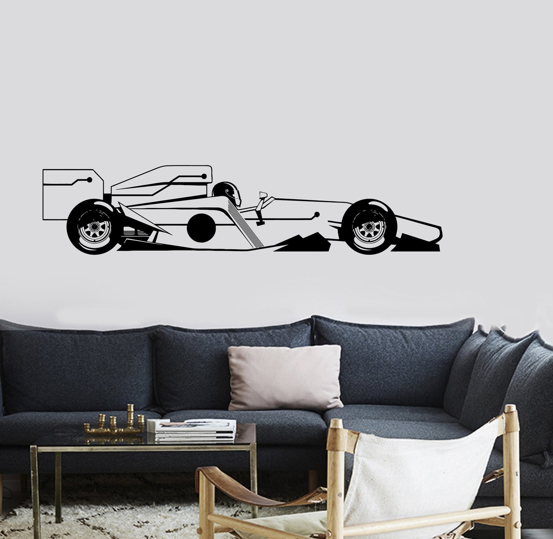 Wall Vinyl Decal Carting Formula 1 Race Racing Car Decor Unique Gift z3735