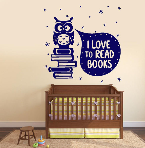 Wall Vinyl Decal I Love Read Books Quotes Decor Z3799