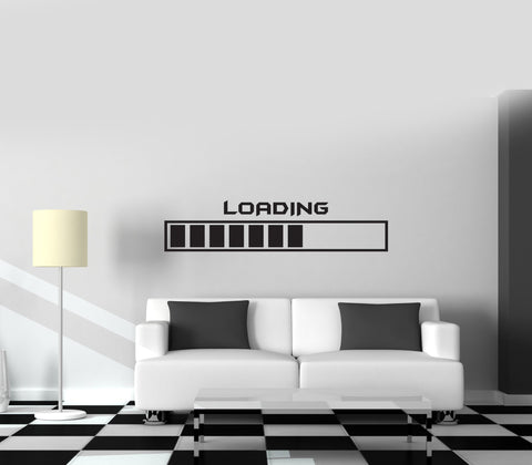 Gamer Wall Vinyl Decal Gaming Loading Joystick Nursery Room Decor Unique Gift z3809