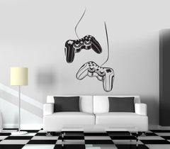 Gaming Wall Vinyl Decal Joystick Nursery Computer Gamer Kids Decor z3813