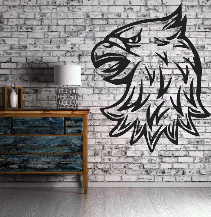 Eagle Head Symbol  Animal  Decor Mural Wall Art Decor Vinyl Sticker Unique Gift z383