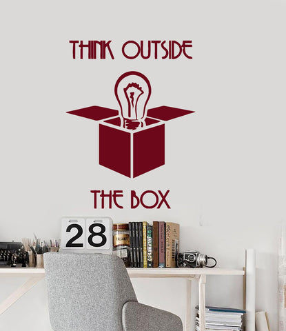 Merveilleux Wall Vinyl Decal Quotes Think Outside The Box Office Decor Unique Gift Z3956