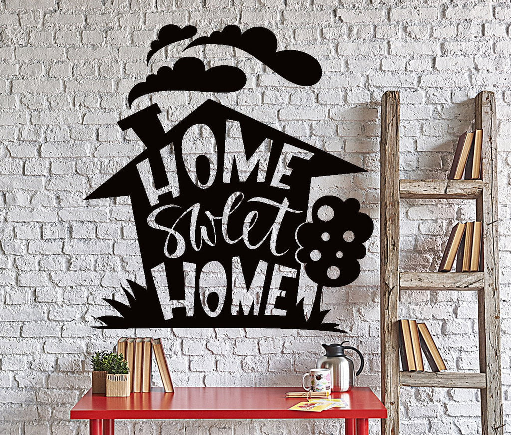 sweet home wallpaper designs. Wall Vinyl Decal Home Sweet Living Room Quote Words Decor Unique  Gift z4386