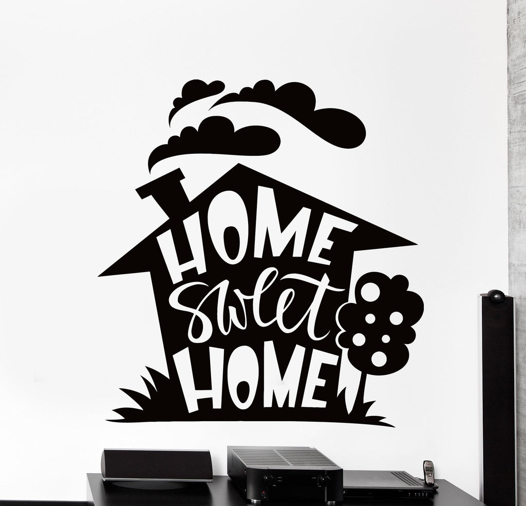 Wall stickers home sweet home - Wall Vinyl Decal Home Sweet Home Living Room Quote Words Home Decor Z4386