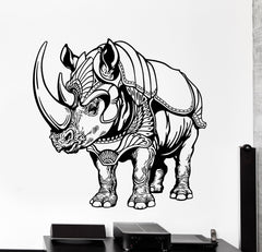 Vinyl Wall Decal Rhino African Animal Fantasy Fairy Tale Home Decor Unique Gift z4471